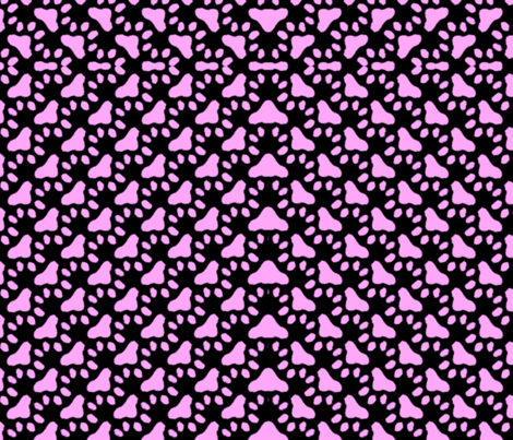 Pink Paws 3 fabric by charldia on Spoonflower - custom fabric
