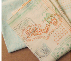 2011 Calendar Tea Towel Fat Quarter Kit