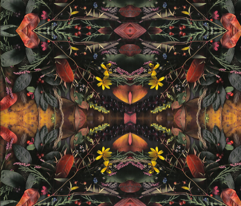 Maryland Flora in Autumn fabric by jubileel on Spoonflower - custom fabric