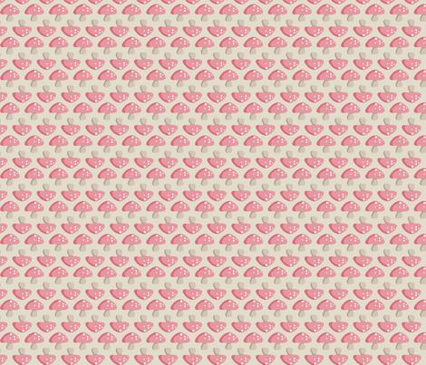Mushroom March - Pink fabric by inktreepress on Spoonflower - custom fabric