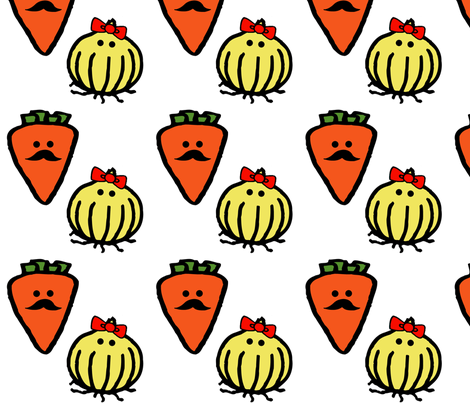 Senior and Seniorita Vegetables fabric by woolybumblebee on Spoonflower - custom fabric