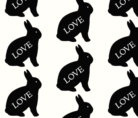 Love Bunny fabric by woolybumblebee on Spoonflower - custom fabric