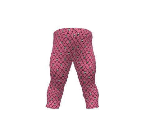 Net-Stocking Hearts - deep pink
