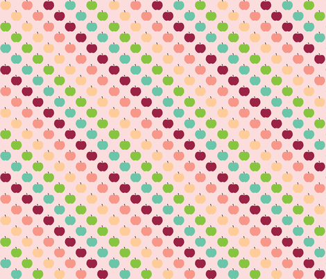 Apple Love fabric by kaddy_w on Spoonflower - custom fabric