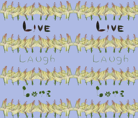 Live_Laugh_Love2 fabric by kikisews on Spoonflower - custom fabric