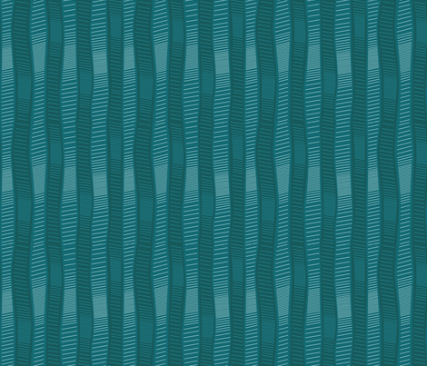 Wiggly Wobbly Teal Greens fabric by wildnotions on Spoonflower - custom fabric