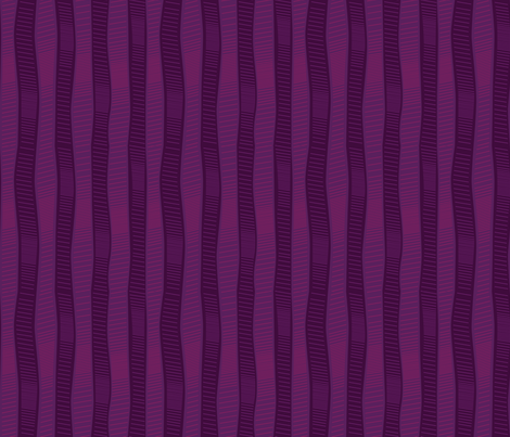 Wiggly Wobbly Plum fabric by wildnotions on Spoonflower - custom fabric