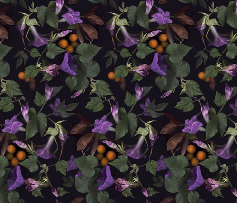 Glorious garden  fabric by vo_aka_virginiao on Spoonflower - custom fabric