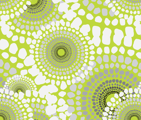 Pile Up Lime fabric by dolphinandcondor on Spoonflower - custom fabric