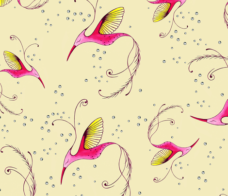 Augury (large birds) fabric by lisa_godfrey on Spoonflower - custom fabric