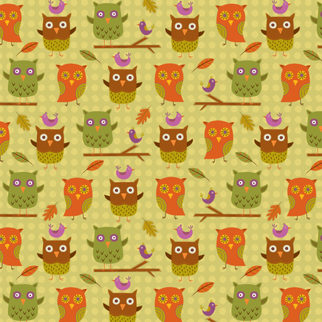 friendly fowls fabric by nina7 on Spoonflower - custom fabric