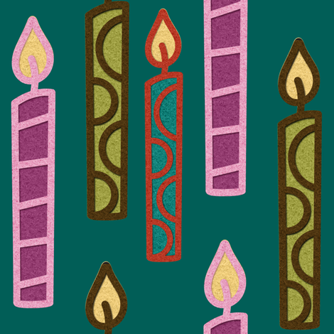candles2 fabric by jnifr on Spoonflower - custom fabric