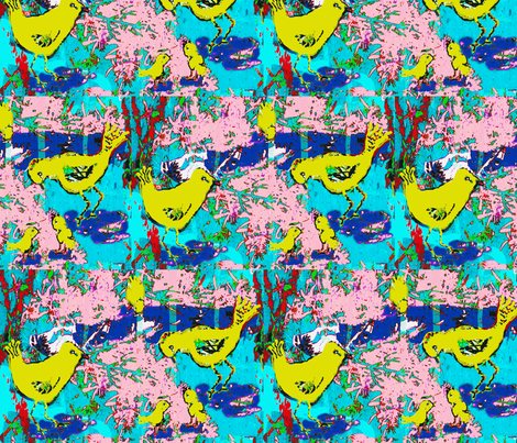 Happy Bird Family fabric by robin_rice on Spoonflower - custom fabric
