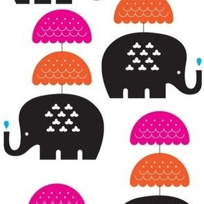 Elephants and Parasols