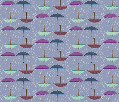 umbrellas fabric by featheredneststudio on Spoonflower - custom fabric