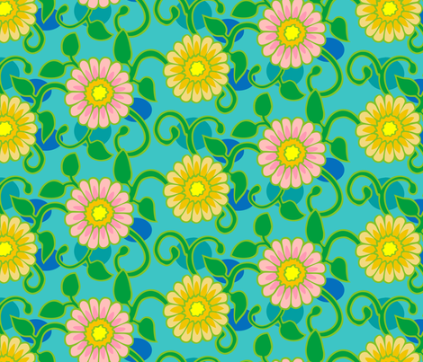 funflowers fabric by hannafate on Spoonflower - custom fabric
