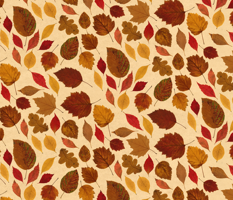 les feuilles mortes fabric by grenouille on Spoonflower - custom fabric