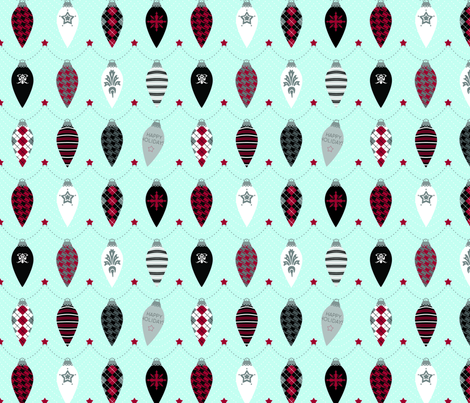 Bauble Garland fabric by jackieatweelife on Spoonflower - custom fabric