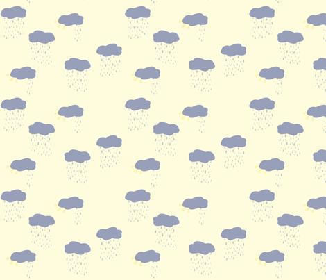 rainy_cloud_sun_cloud fabric by featheredneststudio on Spoonflower - custom fabric
