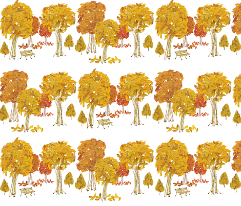 Fall Leaves and Stems fabric by oranshpeel on Spoonflower - custom fabric