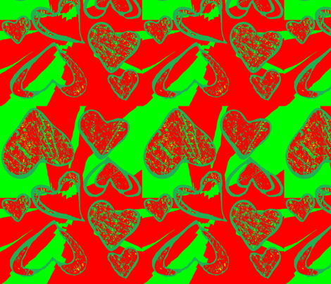 Christmas Love fabric by robin_rice on Spoonflower - custom fabric