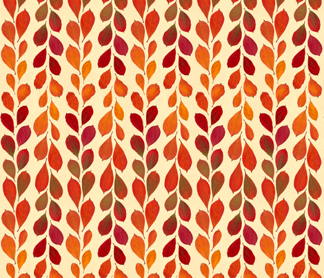 leaf lines fabric by linkolisa on Spoonflower - custom fabric