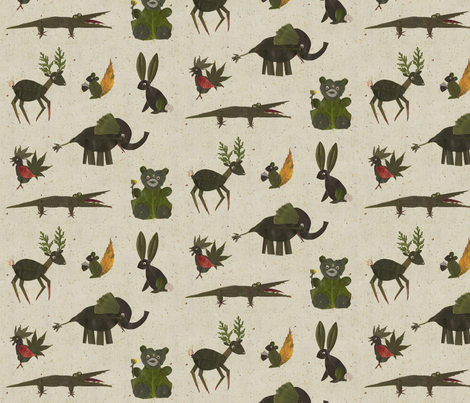 Leif's Zoo Too fabric by jenimp on Spoonflower - custom fabric