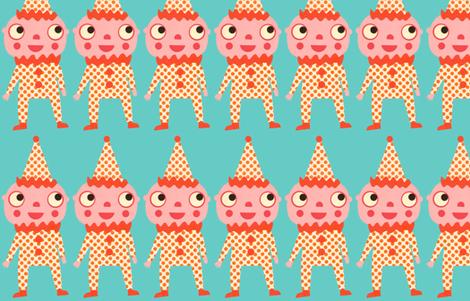 send in the clowns fabric by heidikenney on Spoonflower - custom fabric