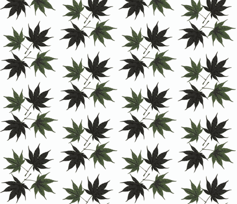 Japanese maple block fabric by cj_alchemy on Spoonflower - custom fabric