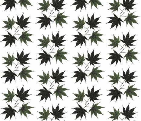 Japanese maple block fabric by cj_alchemy on Spoonflower - custom fabric