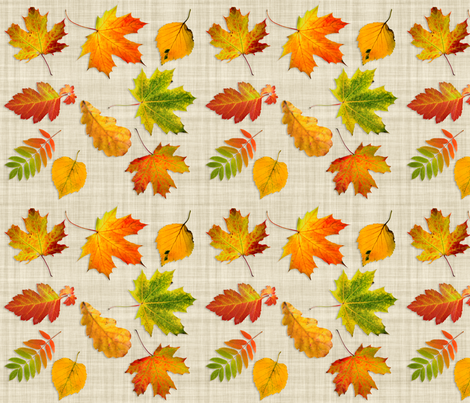 scanned_leaves fabric by deeheit on Spoonflower - custom fabric