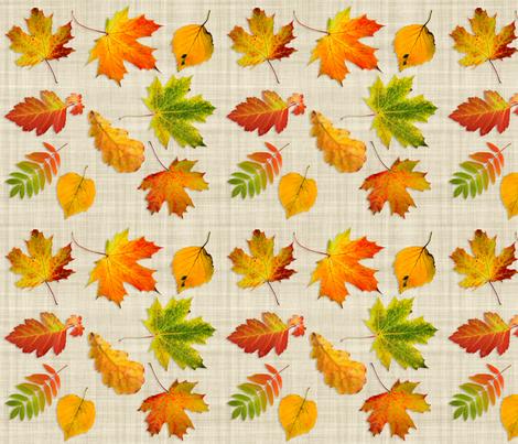 scanned_leaves fabric by deeheit on Spoonflower - custom fabric