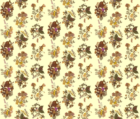 Pressed Flowers fabric by annacole on Spoonflower - custom fabric