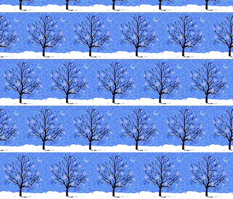Softly Falling Snow  fabric by robin_rice on Spoonflower - custom fabric