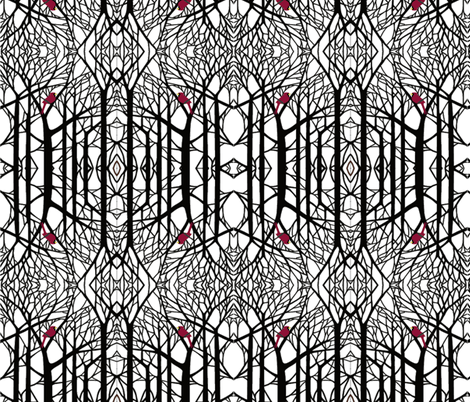 Black White and Winter fabric by poetryqn on Spoonflower - custom fabric