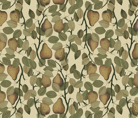 Vintage Pears fabric by hauteideas on Spoonflower - custom fabric