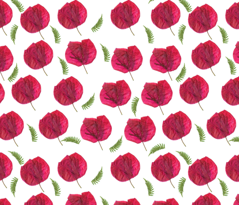 Red_petals fabric by mandyh on Spoonflower - custom fabric