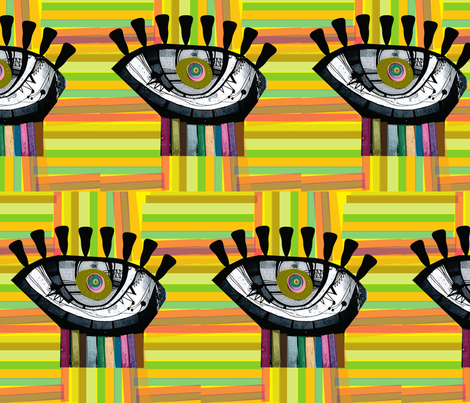 eyecard fabric by dolphinandcondor on Spoonflower - custom fabric