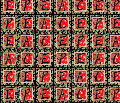 Christmas Peace fabric by leslipepper on Spoonflower - custom fabric
