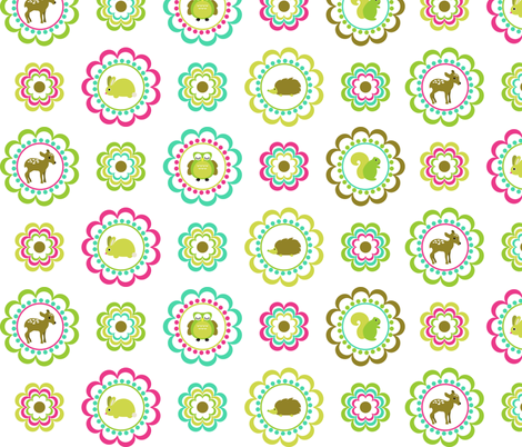 woodland_creatures fabric by eedeedesignstudios on Spoonflower - custom fabric