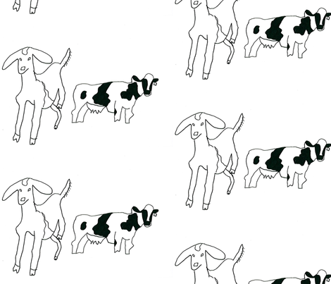Accidental Goat Dong fabric by dolphinandcondor on Spoonflower - custom fabric