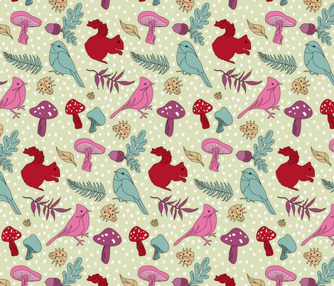 Quirky Critters fabric by patternhillstudio on Spoonflower - custom fabric