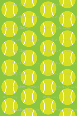 Small Half-Drop Light Green Tennis Balls