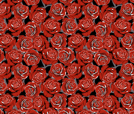 bed of roses fabric by minimiel on Spoonflower - custom fabric