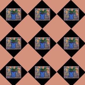 Blue Vase Argyle #7