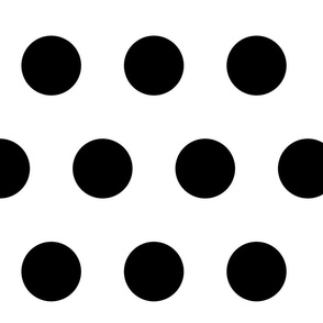 Giant Black Polka Dots