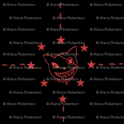 Dusk Kitty Red Stars