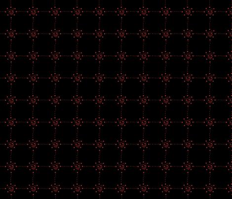 Dusk Kitty Red Stars fabric by eerie_doll on Spoonflower - custom fabric