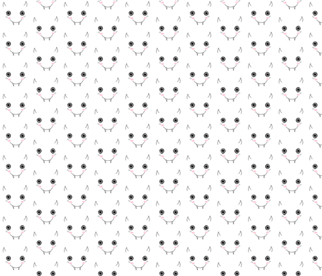 Kawaii Monster fabric by eerie_doll on Spoonflower - custom fabric