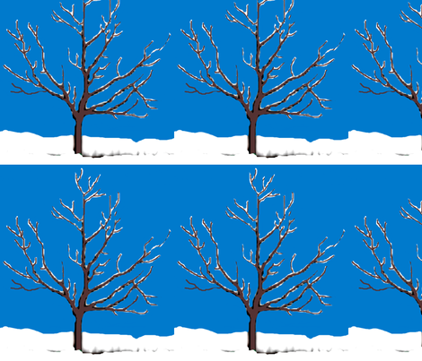 Snowy Tree fabric by robin_rice on Spoonflower - custom fabric
